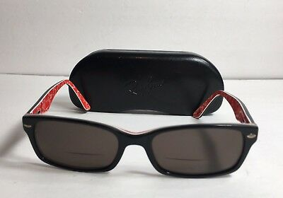 931049933b Authentic Ray Ban RB5206 2479 Unisex Black on Red Rx Eyeglasses Frames 52 18