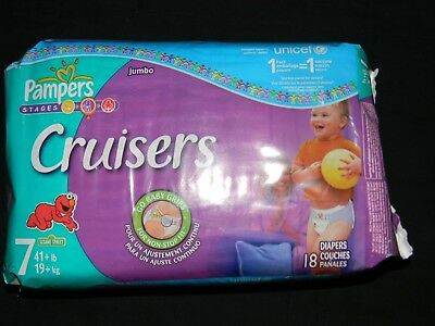 18 Vintage Pampers stages Cruiser size 7 over 41+Lbs