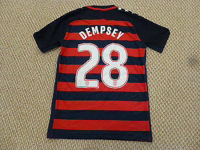 623162e46e8 RARE NWT Nike 2017 CONCACAF Gold Cup USA  28 Dempsey Authentic Navy Red  Jersey M