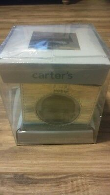 NEW CARTER`S Baby Silver Cube Frame Bank