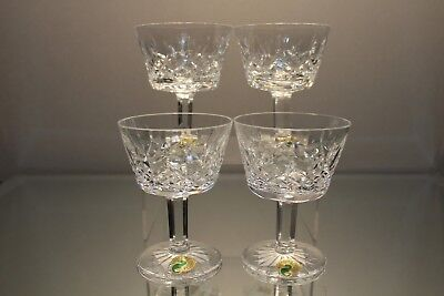 Waterford Crystal Lismore Liquor Cocktail Glasses Set Of 4 New Boxed - Mint