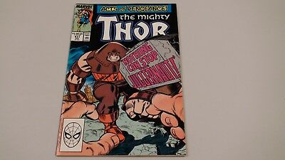The Mighty Thor #411!  First New Warriors (cameo)!