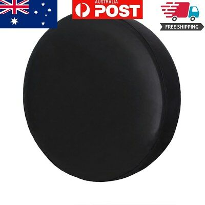 """Spare Tire Cover, 17"""" Pure Black Wheel Tyre Covers Protector For All Vehicle"""