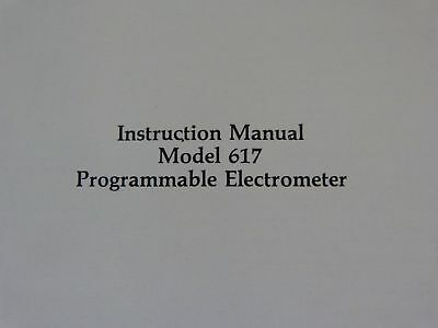 Keithley 617 programmable electrometer instruction manual