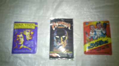 Star trek, Buck rogers, the Panther Trading cards Collectables (unopened)