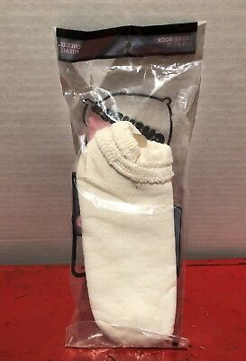 Vintage Cuffed Ankle Sport Socks Cushees NIP White