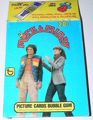. Mork and Mindy Empty Card Box.