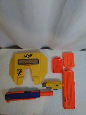 Nerf Gun Lot of Accessories Clips Attachments