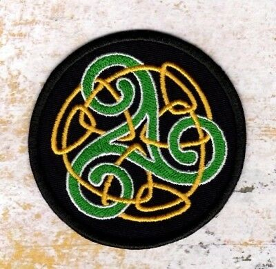 Celtic knot patch Triskele celtic embroidered Patch Iron to Sew on Badge