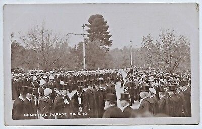 C.1910 Rp Postcard Lord Kitchener's Visit Memorial Parade Adelaide S.a  V45