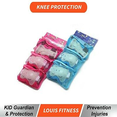 6PC Set Kids Skating Roller Wrist Elbow Knee Cushion Pad Guard Sports Protector