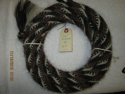 "Mane Horse Hair Mecate 22 ft 5/8"" diameter, Pattern N7"