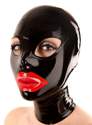Sexy Latex Hood Rubber Unisex Mask Gummi 0.4mm for Party Wear Unique