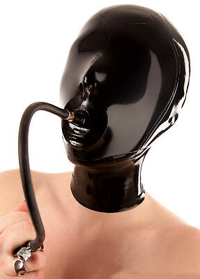 Latex Mask Rubber Hood Mask with Breathing Tube Gummi 0.4mm Wear for Party