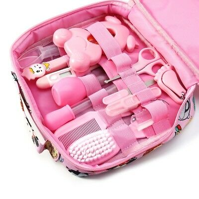 13pcs/Set Newborn Baby Kids Nail Hair Health Care Thermometer Grooming Brush Kit