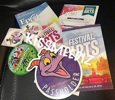 Walt Disney World Annual Passholder 2019 Figment Car Magnet + Festival Passport+
