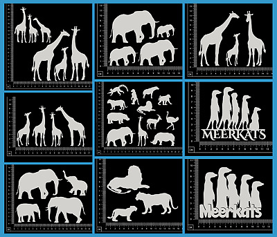 White Chipboard - Animals - Collection Two