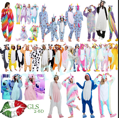 Unicorn Animal Pigiama kigurumi costume Onesie carnevale adulti cosplay animali