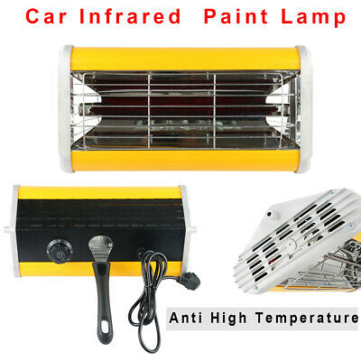 1kW Car Spray Paint Infrared Curing Heating Lamp Portable Handheld Baking Booth