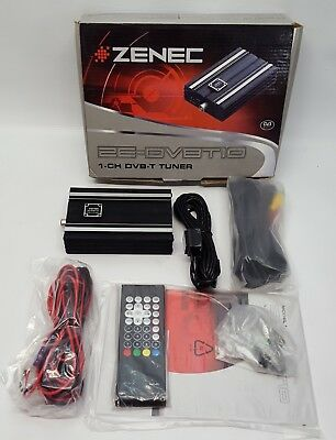ZENEC ZE-DVBT10 In-Car Digital 1-CH DVB-T Freeview TV Tuner NOS#