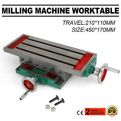 Milling Machine Work Table Cross Slide Bench Drill Press Vise Fixture Compound
