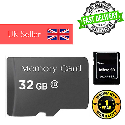 Micro SD Card 32GB Class 10 TF Flash Memory 32G For Mobile Phones Tablets Camera
