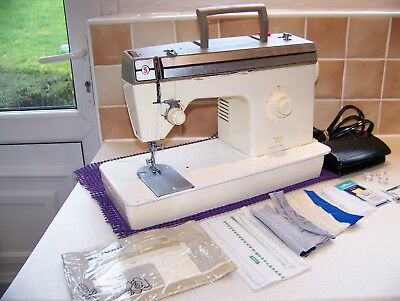 Singer 377 Zigzag Heavy Duty Sewing Machine,cover,book,expertly Serviced