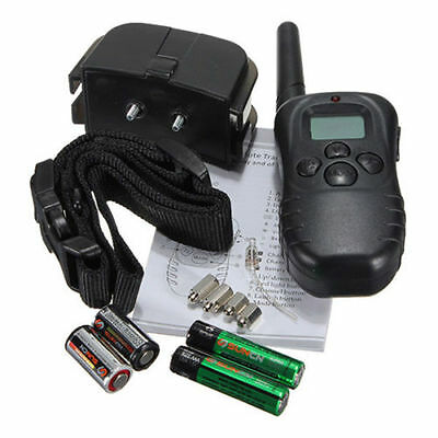 100LV 300Meter Level LCD Dog Training Collar Electric Shock Vibration Remote NEW