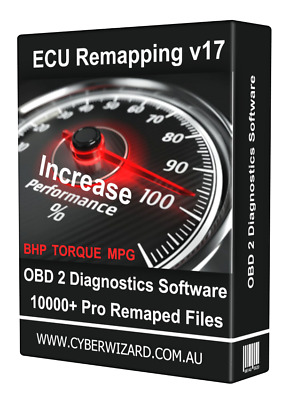 ECU Remapping Chip Tuning Files Car Diagnostics OBD 1 & 2 Software Euro Version