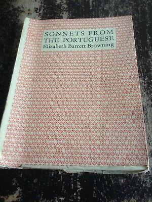 Sonnets from The Portuguese Elizabeth Barrett Browning Shakespeare Head Press
