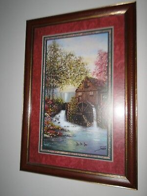 Home Interiors Jeweled Falls Picture Joe Sambataro MILL Homco HARD TO FIND