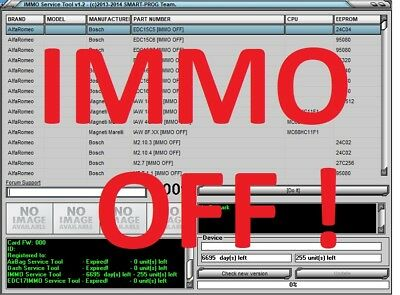 IMMO SERVICE TOOL v1.2 IMMO KEY PIN CODE CALCULATOR BSI VDO DASHBOARD 2017