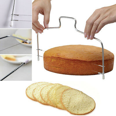 Cake Cutter Bread Wire Slicer Cutting Leveller Leveler Decorator Decorating Tool