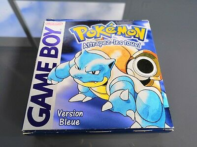 Pokemon version Bleue - jeu nintendo Gameboy Game Boy - boite jeu notice FRA