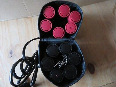 Heated Electric Rollers Travel Holiday Carry Case Nicky Clarke 052