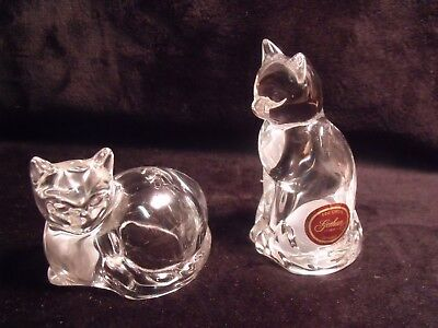 Gorham Germany Fine Crystal Cats Salt And Pepper Shakers