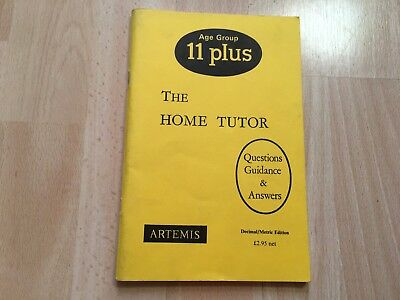 The Home Tutor for Age Group 11 plus Paperback Book E A Cox Questions Answers