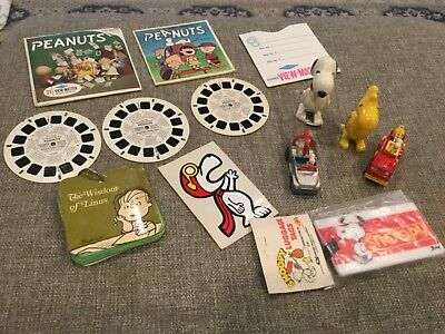 Wholesale Lot Peanuts,Charlie Brown,Woodstock,View Master,Die-Cast Collectiblble
