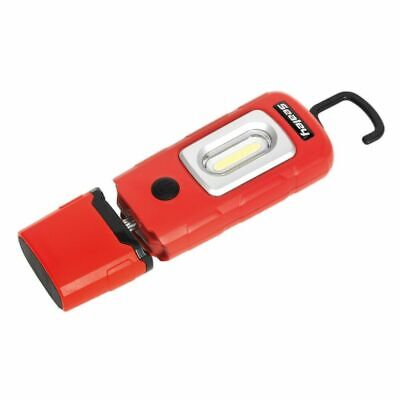 Sealey LED3601R - Rechargeable 360° Inspection Lamp 2W COB + 1W LED Red Lithium-