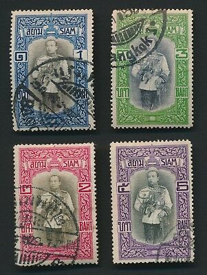 THAILAND STAMPS 1912 OLD SIAM VIJARAVUDH VIENNA PRINT TO 5b, ATTRACTIVE GROUP
