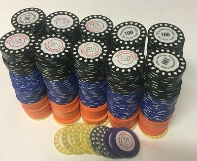 Poker Chip Deepstack- 10 Stacks/Over 350 Chips/Denominations/520K Chip Play