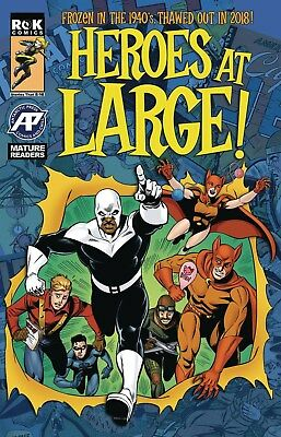 Heroes At Large #1 Hutchinson Cover Antarctic Press Comics Indy Hot Sold Out