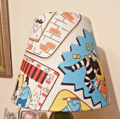 BEDSIDE TABLE LAMPSHADE in CATH KIDSTON stop thief fabric