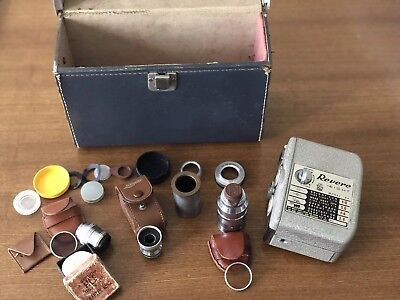 Lot Of vintage Lens/case And revere Eight Model 84 Camera