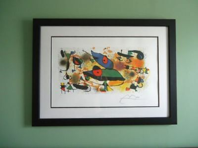 """LARGE MIRO  """"SCULPTURES II"""" Numb & Facsimile Signed Lithograph FREE SHIP IN USA"""