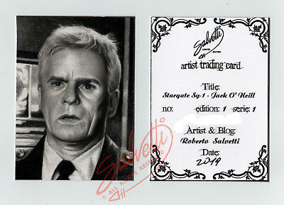 ACEO ATC limited edition print STARGATE SG-1 JACK O' NEILL Richard D. Anderson