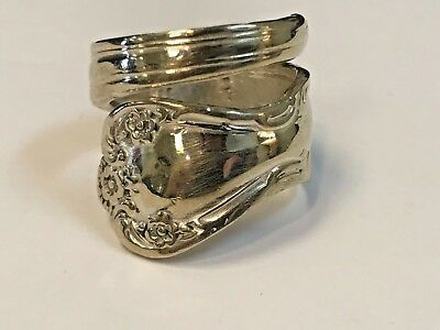 Vintage Rogers & Bros Spoon Ring Silver Plated Size 8.5