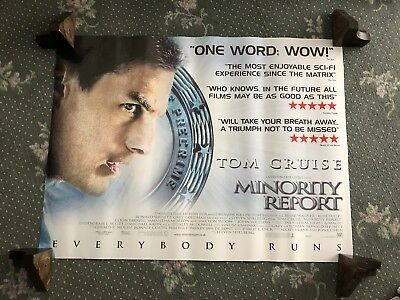 MINORITY REPORT (2002) - Original Quad Cinema Poster Tom Cruise Steven Spielberg
