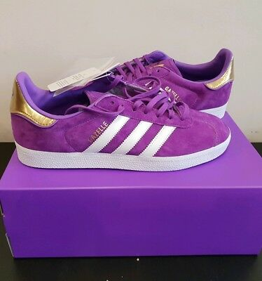 brand new d1394 27774 Adidas Originals X TFL Gazelle Purple Elizabeth Line Trainers Sneakers Size  6.5