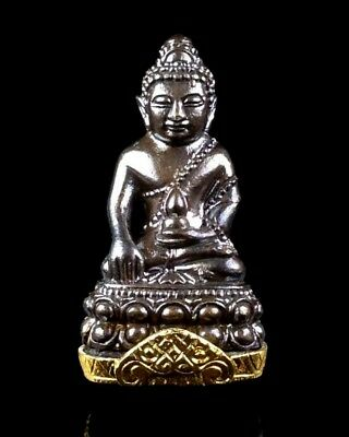 Thai Amulet Buddha PHRA KRING LP TIM Buddhist art antique (Bell inside)